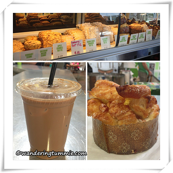 Portola Coffee Lab Costa Mesa CA, coffee, desserts, pastries, mocha, latte, expresso, bread, muffins, scones, mini pies, hot chocolate, chai, chai latte, lemonade