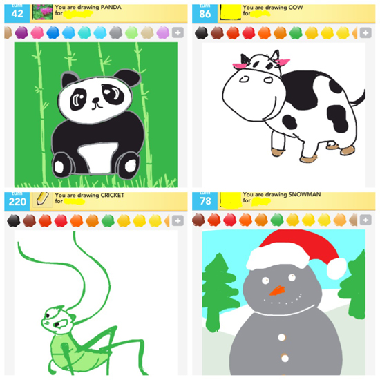 Draw Something, Draw Something app, Draw Something iphone app, Draw Something ipad app, Draw Something game, panda, cow, cricket, snowman, digital art, ipad art, iphone art, ipad 3